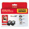 <strong>Canon®</strong><br />2973B004 (PGI-210XL/CL-211XL) High-Yield Ink/Paper Combo, Black/Tri-Color