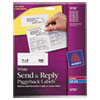 SEND AND REPLY PIGGYBACK LABELS, INKJET/LASER PRINTERS, 1.63 X 4, WHITE, 12/SHEET, 20 SHEETS/PACK