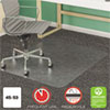 <strong>deflecto®</strong><br />SuperMat Frequent Use Chair Mat, Med Pile Carpet, 45 x 53, Beveled Rectangle, Clear