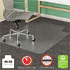 <strong>deflecto®</strong><br />SuperMat Frequent Use Chair Mat for Medium Pile Carpet, 45 x 53, Wide Lipped, Clear
