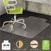 <strong>deflecto®</strong><br />DuraMat Moderate Use Chair Mat, Low Pile Carpet, Flat, 36 x 48, Lipped, Clear