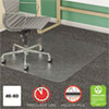 <strong>deflecto®</strong><br />SuperMat Frequent Use Chair Mat, Medium Pile Carpet, Flat, 46 x 60, Rectangle, Clear