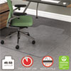 RollaMat Frequent Use Chair Mat for Medium Pile Carpet, 36 x 48 w/Lip, Clear