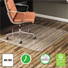 <strong>deflecto®</strong><br />EconoMat All Day Use Chair Mat for Hard Floors, 46 x 60, Rectangular, Clear
