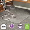 <strong>deflecto®</strong><br />ExecuMat All Day Use Chair Mat for High Pile Carpet, 45 x 53, Wide Lipped, Clear