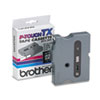 "Brother® P-Touch® TX Tape Cartridge for PT-8000, PT-PC, PT-30/35, 1/2""w, Black on Clear BRTTX1311"