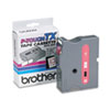 """Brother® P-Touch® TX Tape Cartridge for PT-8000, PT-PC, PT-30/35, 1""""w, Red on White BRTTX2521"""