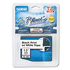 """<strong>Brother P-Touch®</strong><br />TZe Standard Adhesive Laminated Labeling Tape, 1.4"""" x 26.2 ft, Black on White"""