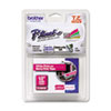 "<strong>Brother P-Touch®</strong><br />TZ Standard Adhesive Laminated Labeling Tape, 0.47"" x 16.4 ft, White/Berry Pink"