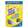 Non-Scratch Soap Scrubbers, Blue, 8/Pack, 6 Packs/Carton