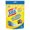 Non-Scratch Soap Scrubbers, Blue, 4/Pack, 6 Packs/Carton
