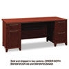 Bush® Enterprise Collection 72W Double Pedestal Desk, Harvest Cherry (Box 1 of 2) BSH2972CSA103