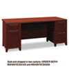 Bush® Enterprise Collection 72W Double Pedestal Desk, Harvest Cherry (Box 2 of 2) BSH2972CSA203