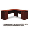 "72""W x 72""D L-Desk (B/D, F/F) Box 2 of 2 Syndicate, 72.75w x 72.25d x 30.75h, Harvest Cherry"