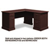 "60""W x 60""D L-Desk (B/D, F/F) Box 2 of 2 Syndicate, 60.88w x 60.88d x 30.75h, Mocha Cherry"