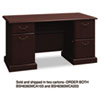 "60""W Double Pedestal Desk (B/B/F, F/F) Box 2 of 2 Syndicate, 60.88w x 30d x 30.75h, Mocha Cherry"
