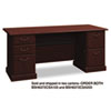 "72""W Double Ped Desk (B/B/F, F/F) Box 1 of 2 Syndicate, 72.25w x 30d x 30.75h, Harvest Cherry"