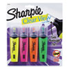 <strong>Sharpie®</strong><br />Clearview Tank-Style Highlighter, Assorted Ink Colors, Chisel Tip, Assorted Barrel Colors, 4/Set