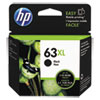 HP 63XL, (F6U64AN) High-Yield Black Original Ink Cartridge