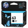 <strong>HP</strong><br />HP 63, (F6U62AN) Black Original Ink Cartridge