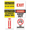 Tarifold, Inc. Magneto Safety Sign Inserts, Six Assorted Messages, 8 3/4 x 11 1/4, 12/Pack - P1949TA