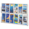<strong>Safco®</strong><br />Reveal Clear Literature Displays, 12 Compartments, 30w x 2d x 20.25h, Clear