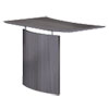 <strong>Safco®</strong><br />Medina Laminate Bridge, Right-Hand, 48w x 24d x 29.5h, Gray Steel