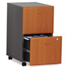 Mobile File/File Pedestal (Assembled) Series A, Natural Cherry