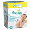 Pampers® Sensitive Baby Wipes, White, Cotton, Unscented, 64/Pack, 9 Pack/Carton - 88529