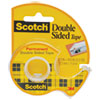 """DOUBLE-SIDED PERMANENT TAPE IN HANDHELD DISPENSER, 1"""" CORE, 0.5"""" X 37.5 FT, CLEAR"""
