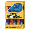 "<strong>BIC®</strong><br />Wite-Out EZ Correct Correction Tape Value Pack, Non-Refillable, 1/6"" x 472"", 10/Box"