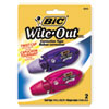 """<strong>BIC®</strong><br />Wite-Out Mini Twist Correction Tape, Non-Refillable, 1/5"""" x 314"""", 2/Pack"""