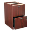 Basyx by HON BL Laminate Two Drawer Pedestal File, 15 5/8w x 21 3/4d x 27 3/4h, Mahogany BSXBL2163NN