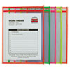 "Stitched Shop Ticket Holder, Neon, Assorted 5 Colors, 75"", 9 x 12, 10/PK"