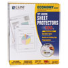 "Economy Weight Poly Sheet Protector, Reduced Glare, 2"", 11 x 8 1/2, 100/BX"