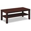 Basyx by HON Laminate Occasional Table, 42w x 20d x 16h, Mahogany BSXBLH3160N