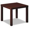 Basyx by HON Laminate Occasional Table, 24w x 24d x 20h, Mahogany BSXBLH3170N