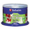 Verbatim CD-RW Ink Jet Printable Storage Media 50 Pack
