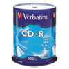 <strong>Verbatim®</strong><br />CD-R Discs, 700MB/80min, 52x, Spindle, Silver, 100/Pack