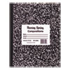 Marble Cover Composition Book, Wide Rule, 9 3/4 x 7 1/2, 60 Pages