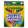 Ultra-Clean Washable Markers, Broad Bullet Tip, Classic Colors, 8/Pack