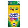 Ultra-Clean Washable Markers, Fine Bullet Tip, Classic Colors, 8/Pack