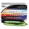"""X-TREME RUBBER BANDS, SIZE 117B, 0.08"""" GAUGE, LIME GREEN, 1 LB BOX, 200/BOX"""