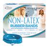 "ANTIMICROBIAL NON-LATEX RUBBER BANDS, SIZE 33, 0.04"" GAUGE, CYAN BLUE, 4 OZ BOX, 180/BOX"