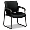 Basyx by HON VL443 Series Guest Chair with Black Fabric, Black Frame & Sled Base BSXVL443VC10