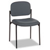 Basyx by HON VL606 Series Stacking Armless Guest Chair, Charcoal Fabric BSXVL606VA19