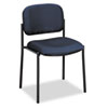 Basyx by HON VL606 Series Stacking Armless Guest Chair, Navy Fabric BSXVL606VA90
