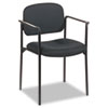 Basyx by HON VL616 Series Stacking Guest Chair with Arms, Black Fabric BSXVL616VA10