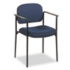 Basyx by HON VL616 Series Stacking Guest Chair with Arms, Navy Fabric BSXVL616VA90