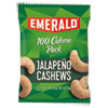 Emerald® 100 Calorie Pack Nuts, Jalapeno Cashews, 0.62 oz Pack, 12/Box DFD33625